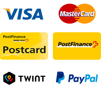 postfinace, paypal, vista, mastercard, Twint